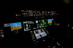 United Pilots of Westjet B787 cockpit view